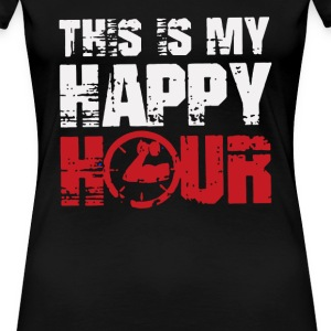 This is my Happy Hour Funny Logo - Women's Premium T-Shirt