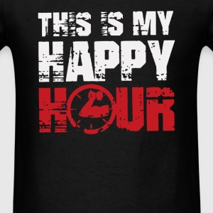 This is my Happy Hour Funny Logo - Men's T-Shirt