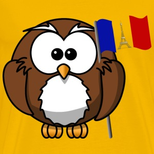 Owl with French flag - Men's Premium T-Shirt