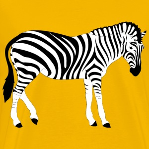 Realistic Zebra Illustration - Men's Premium T-Shirt