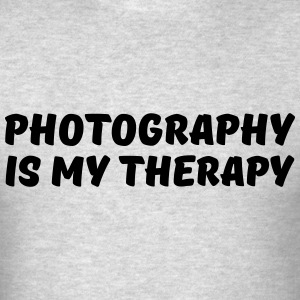 Photography is my therapy T-Shirts - Men's T-Shirt