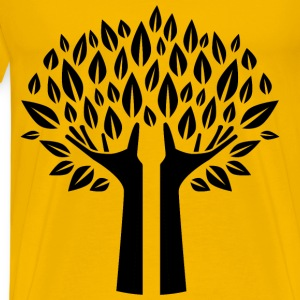 Hands Tree Silhouette - Men's Premium T-Shirt