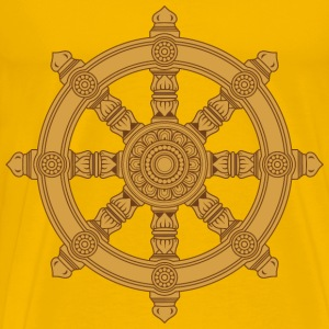 Ornate Dharma Wheel - Men's Premium T-Shirt