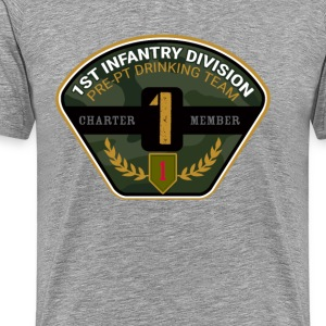 1st ID Drinking Team - Men's Premium T-Shirt