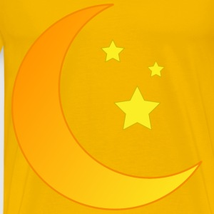 Moon and Stars Orange - Men's Premium T-Shirt