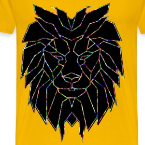 Chromatic Polygonal Lion Face - Men's Premium T-Shirt