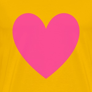Transparent Magenta Loveheart - Men's Premium T-Shirt