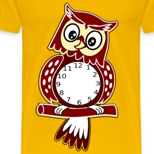 owl clock - Men's Premium T-Shirt