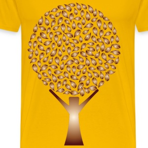 Copper Abstract Tree No Background - Men's Premium T-Shirt
