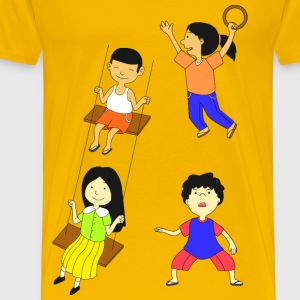 Multicultural Kids Playing - Men's Premium T-Shirt