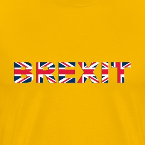 BREXIT No Outline With Shading - Men's Premium T-Shirt