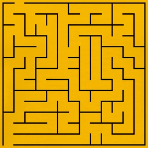 Simple Maze Puzzle - Men's Premium T-Shirt