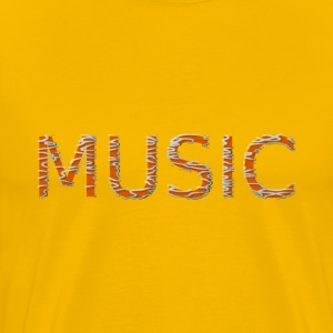 Music text - Men's Premium T-Shirt
