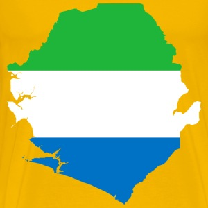 Sierra Leone Flag Map - Men's Premium T-Shirt
