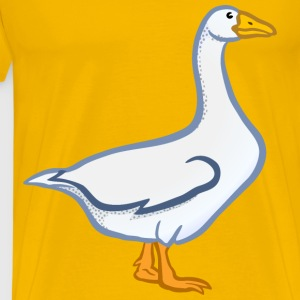 goose coloured - Men's Premium T-Shirt