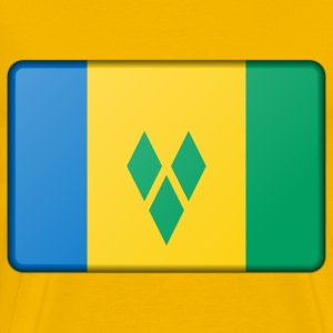 Saint Vincent and the Grenadines flag (bevelled) - Men's Premium T-Shirt