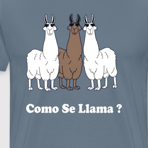 Como Se Llama? Funny Spanish What Is Your Name T-Shirts - Men's Premium T-Shirt