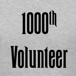 1000th Volunteer - Womens - Women's V-Neck T-Shirt
