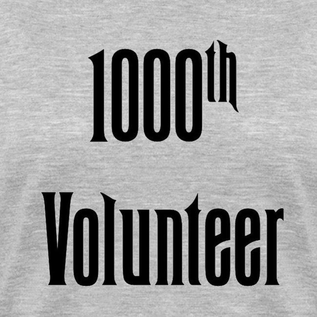 1000th Volunteer - Womens