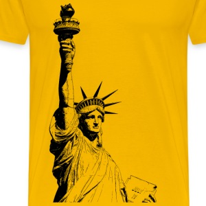 Statue of Liberty (black) - Men's Premium T-Shirt