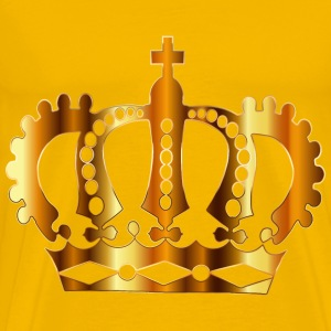 Gold Royal Crown Silhouette No Background - Men's Premium T-Shirt