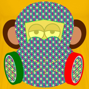 monkey wears gas mask with pattern - Men's Premium T-Shirt