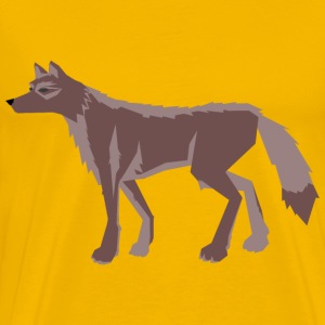 wolf brown - Men's Premium T-Shirt
