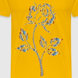 Chromatic Gold Rose Silhouette No Background - Men's Premium T-Shirt