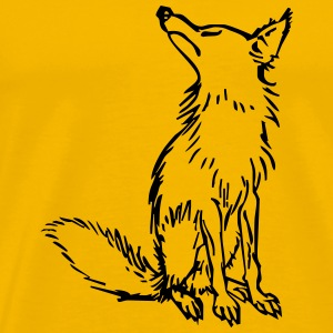 Snooty wolf - Men's Premium T-Shirt