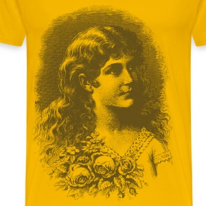 Vintage Flower Girl 02 04 - Men's Premium T-Shirt