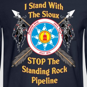 Standing Rock Sioux Shield & Crossed Arrows - Men's Long Sleeve T-Shirt