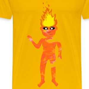 Flame Elemental Simmering - Men's Premium T-Shirt