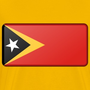 Flag of East TImor (bevelled) - Men's Premium T-Shirt