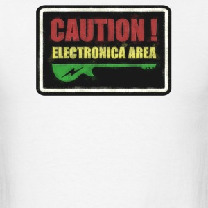 Caution Electronica - Men's T-Shirt