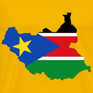 South Sudan Flag Map With Stroke - Men's Premium T-Shirt