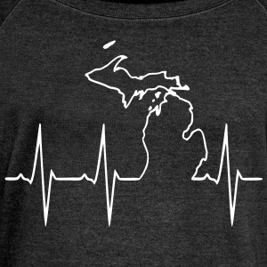 Michigan Heartbeat - Women's Wideneck Sweatshirt
