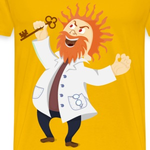 Mad scientist with a key - Men's Premium T-Shirt