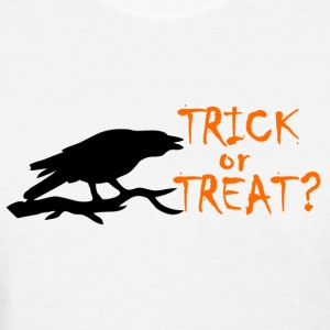 TRICK OR TREAT ORANGE BLACK CROW T-Shirts - Women's T-Shirt