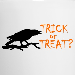 TRICK OR TREAT ORANGE BLACK CROW Mugs & Drinkware - Coffee/Tea Mug