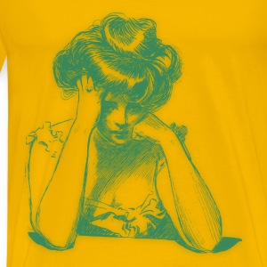 Worried woman 07 Blur - Men's Premium T-Shirt