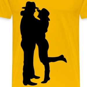Romantic Couple Silhouette - Men's Premium T-Shirt