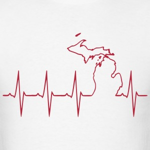 Michigan Heartbeat T-Shirts - Men's T-Shirt