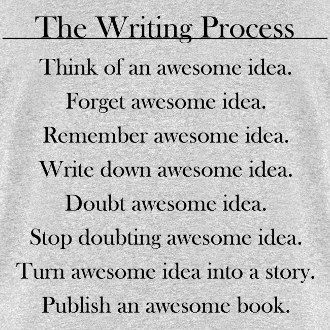 0ad13aa3b17 The Writing Process Grey Male T-Shirt