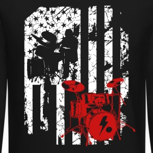Drum Set Flag Shirt - Crewneck Sweatshirt