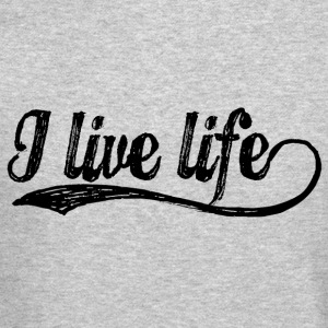 I Live Life candy black Long Sleeve Shirts - Crewneck Sweatshirt