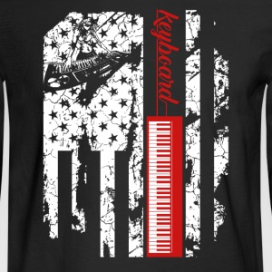 Keyboard Flag Shirt - Men's Long Sleeve T-Shirt