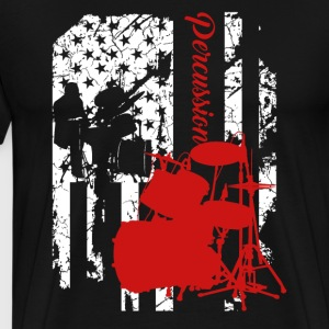 Percussion Flag Shirt - Men's Premium T-Shirt