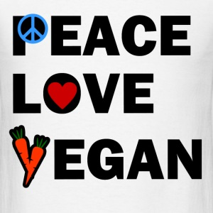 PEACE LOVE VEGAN1.png T-Shirts - Men's T-Shirt