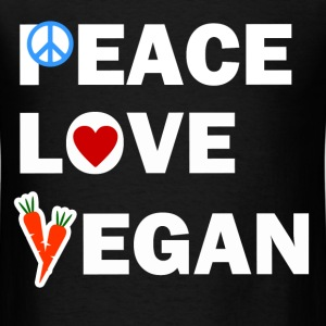 PEACE LOVE VEGAN2.png T-Shirts - Men's T-Shirt