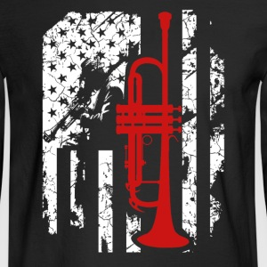 Trumpet Flag T shirt - Men's Long Sleeve T-Shirt